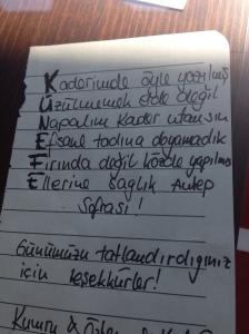 Kunefe Poem, Lezzet-i Sark, Istanbul