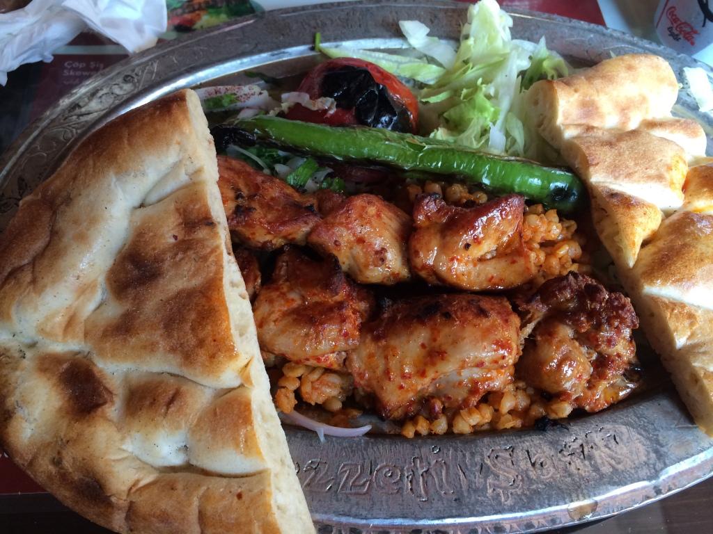 Chicken Shish At Lezzet-i Sark, Istanbul