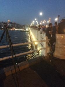 Galata Bridge At Night, Istanbul