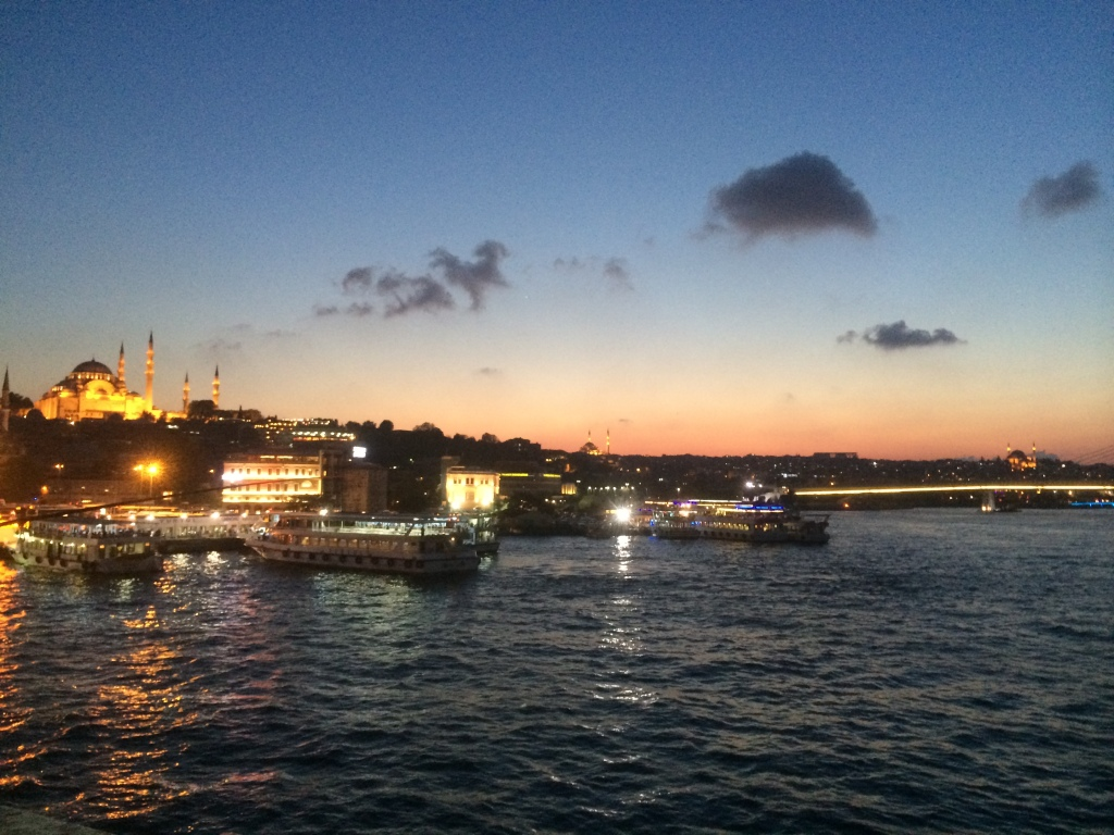 View From The Galata Bridge At Night, Istanbul