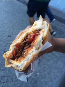 Meat Sandwich From Gala Kokorec Food Truck, Istanbul