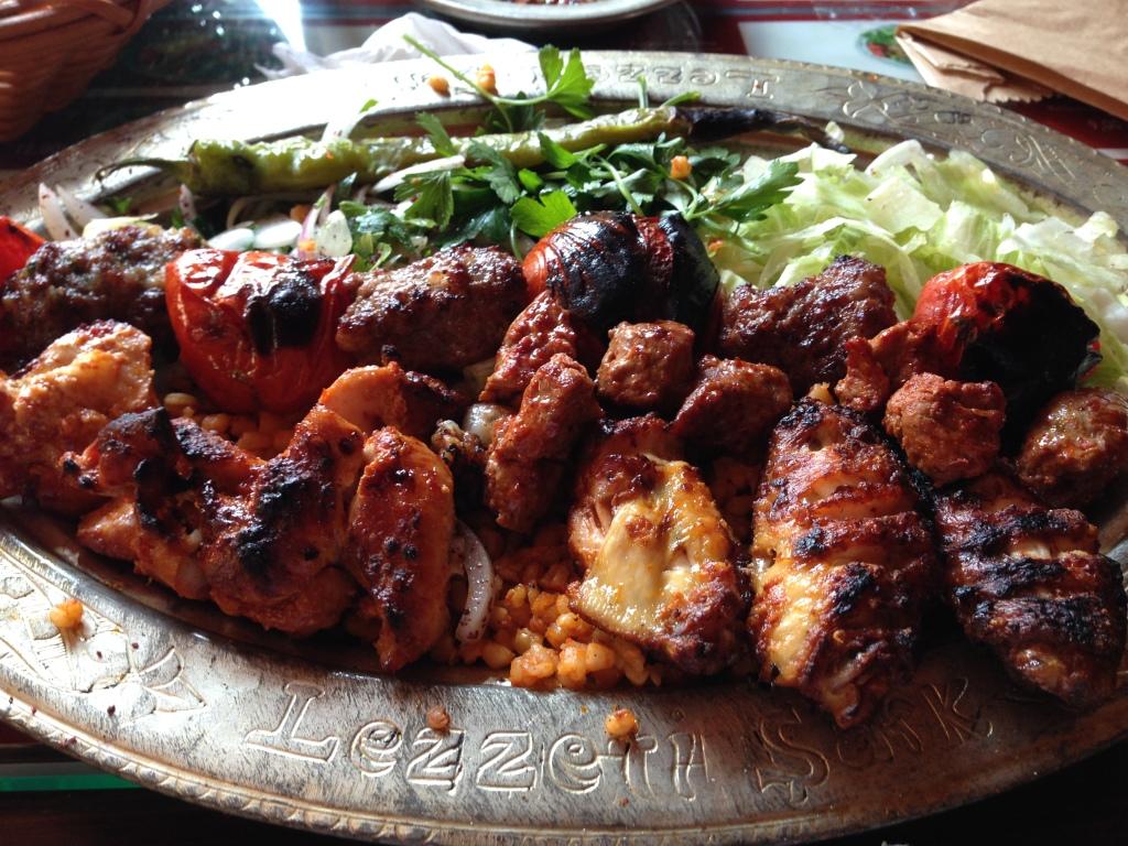 Mixed Kebab At Lezzet-i Sark, Istanbul