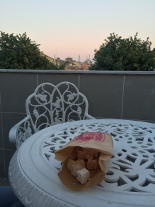 Turkish Delight On The Balcony At Ascot House, Istanbul