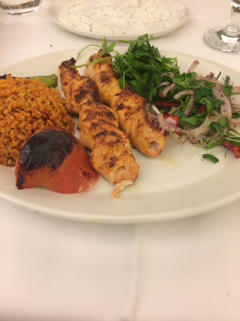 Chicken Shish At The Hamdi Restaurant in Eminonu, Istanbul