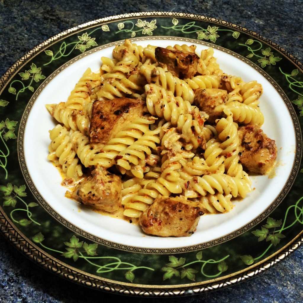 Sundried tomato and chicken pasta