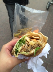 Chicken Shawarma, Ashwaq Cafeteria, Deira, Dubai.