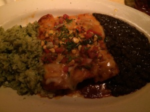 Enchiladas, Cilantro Rice and Black Beans, Cheesecake Factory, Dubai Mall
