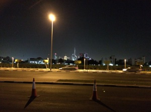 Driving Back To Dubai. UAE