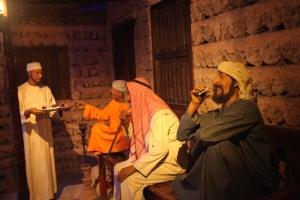 Drinking Tea and Smoking Shisha, Dubai Museum, Dubai, UAE