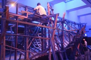 Boat Under Construction, Dubai Museum, Dubai, UAE
