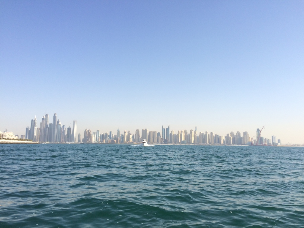 Skyline from Boat Cruise, Dubai Marina, Dubai, UAE