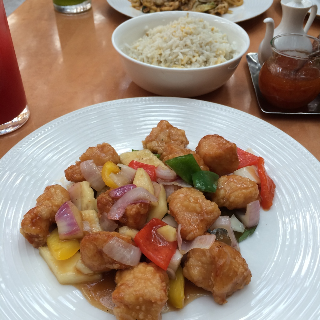 Sweet And Sour Chicken, The Noodle House, BurJuman Mall, Dubai, UAE