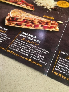 Triple Decker Chicken Pizza, Debonairs Pizza, Dubai Mall, Dubai, UAE
