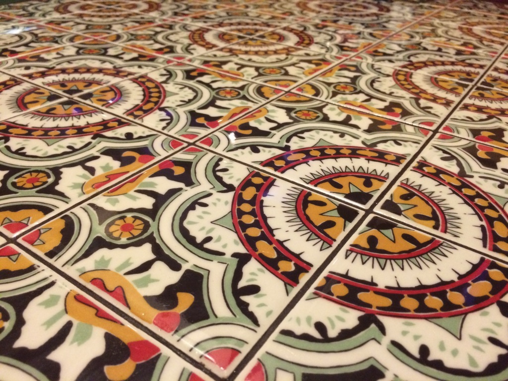 Tiled table, Chili's, Dubai Mall, UAE