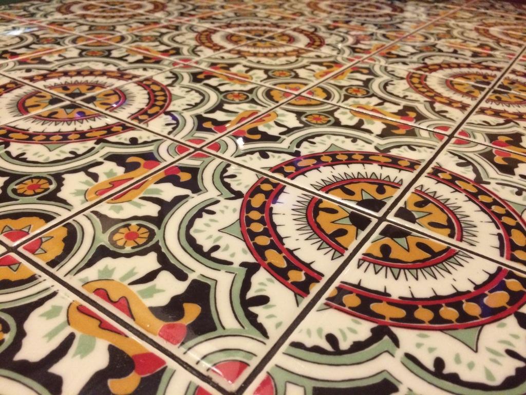 Tiled table, Chili's, Dubai Mall, UAE