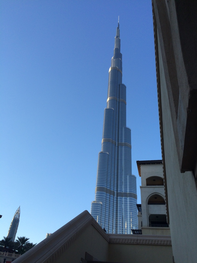 Burj Khalifa from the Souk Al Bahar, Dubai, UAE