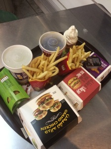 Big Mac and Grand Chicken Meals, Chicken Nuggets, Apple Pie and Icecream, McDonald's, Dubai International Airport, DXB, Dubai, UAE