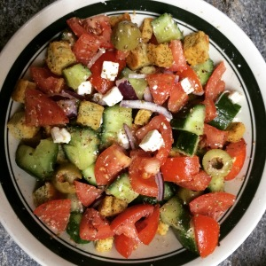 Greek Salad With Croutons