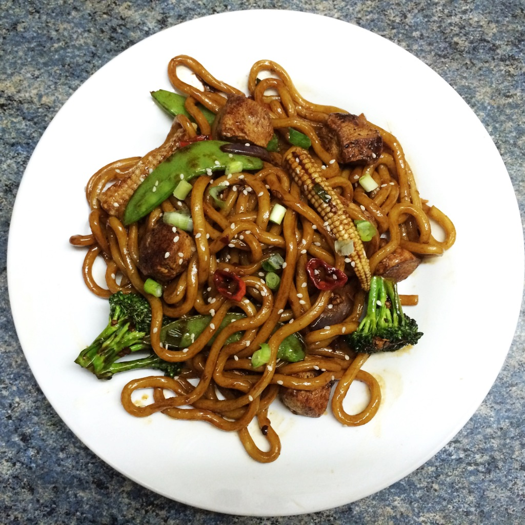 Stir Fried Chicken Yaki Udon