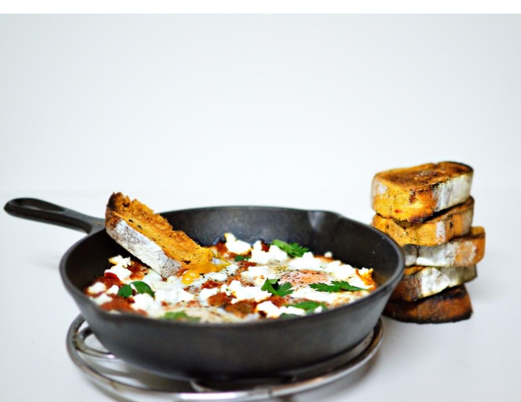 Shakshouka or Shakshuka (Eggs Baked In A Tomato Sauce)