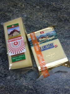 Gruyere And Emmental Cheese, Migros, Geneva, Switzerland