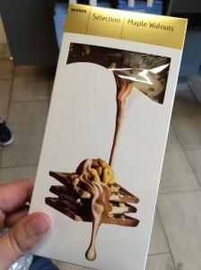 Maple Walnut Chocolate, Migros, Geneva, Switzerland