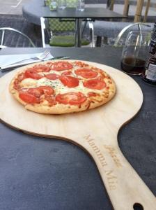 Margherita Pizza, Cafe Pavillon Longemalle, Geneva, Switzerland