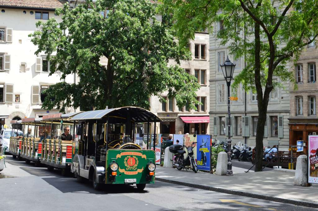 Mini Train Tour, Old Town, Geneva, Switzerland