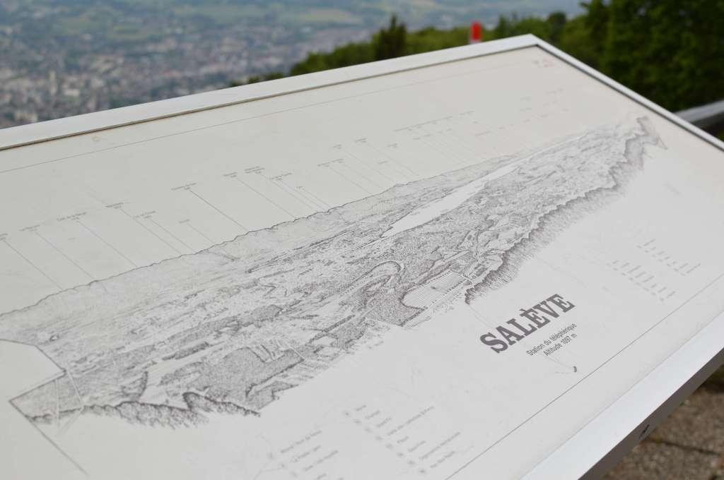 Mont Saleve Map, Geneva, Switzerland