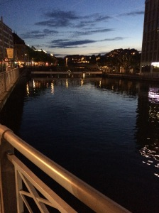 Nightfall, Pont de Sous-Terre, Geneva, Switzerland