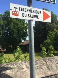 Signpost,Telepherique Saleve, France