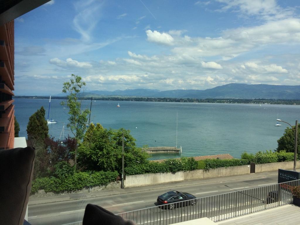 View From Superior Room, Lake Geneva Hotel, Geneva, Switzerland