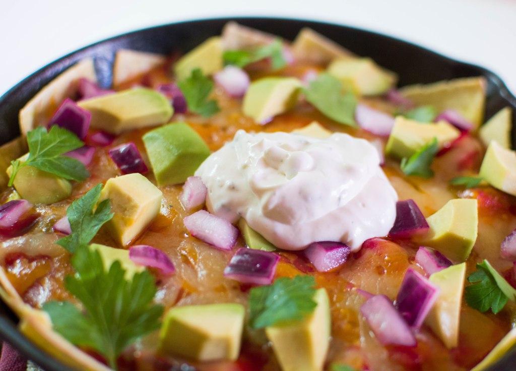Chicken Skillet Enchiladas