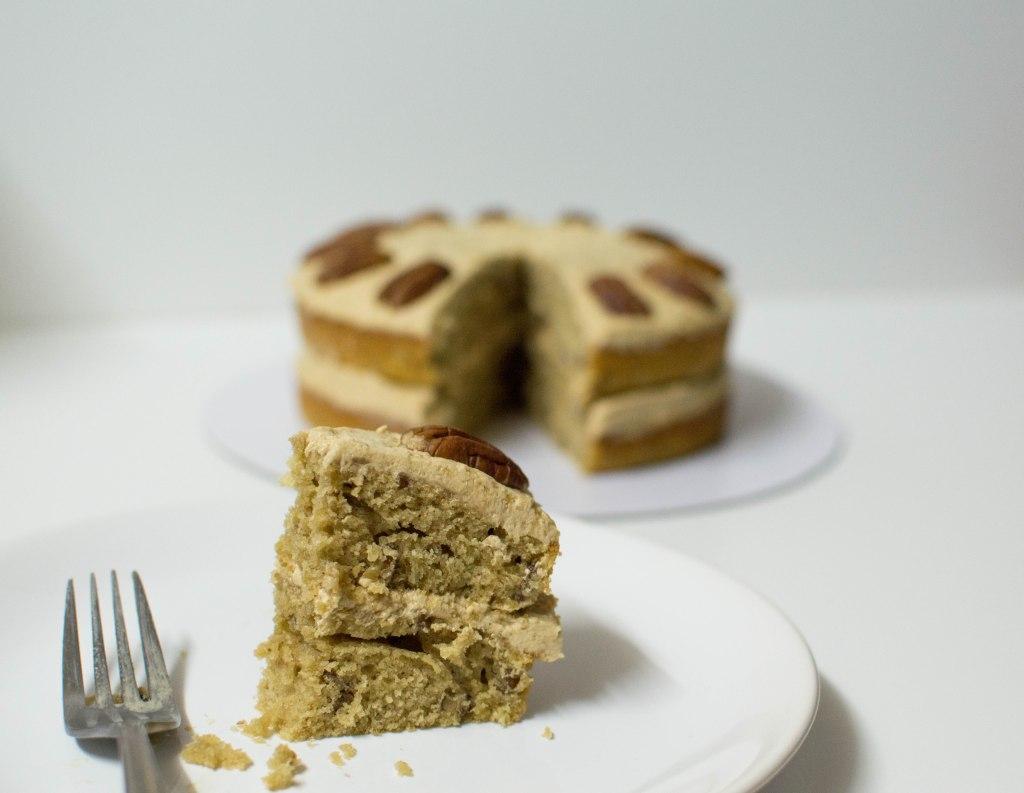 Coffee, Maple & Pecan Cake