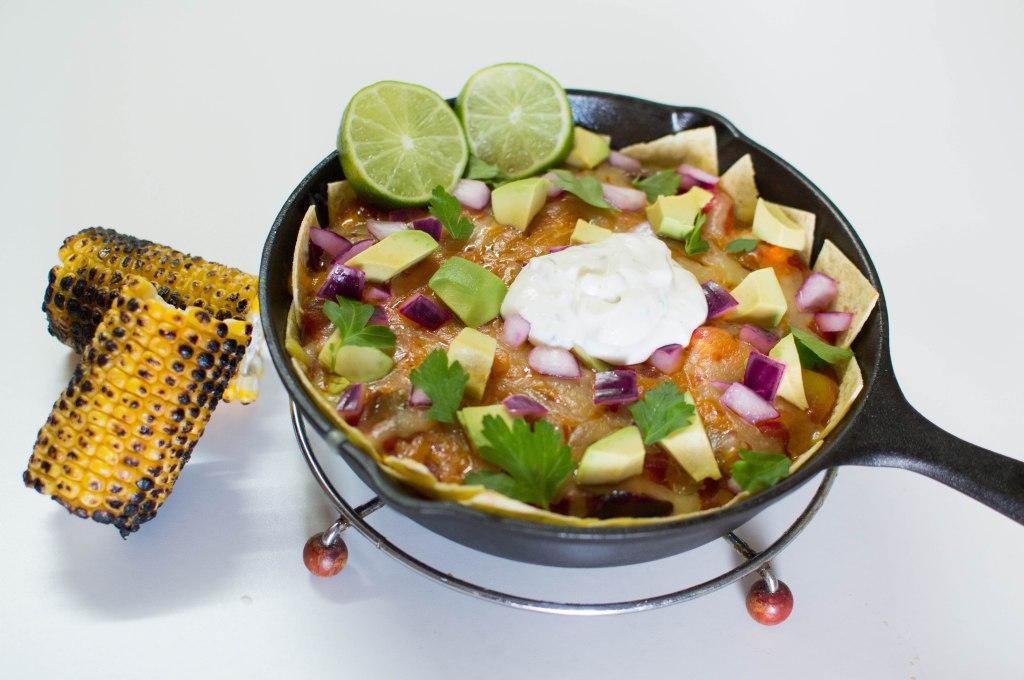 Deconstructed Chicken Enchiladas