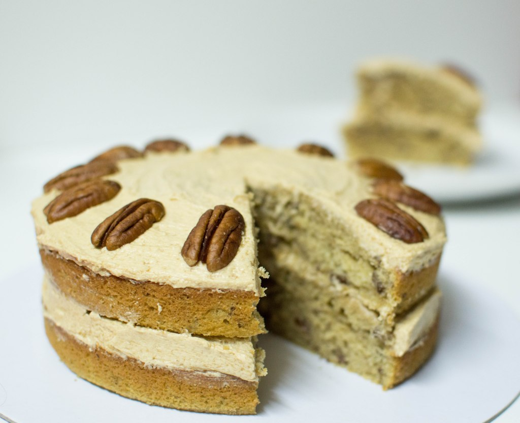 Maple, Coffee & Pecan Cake