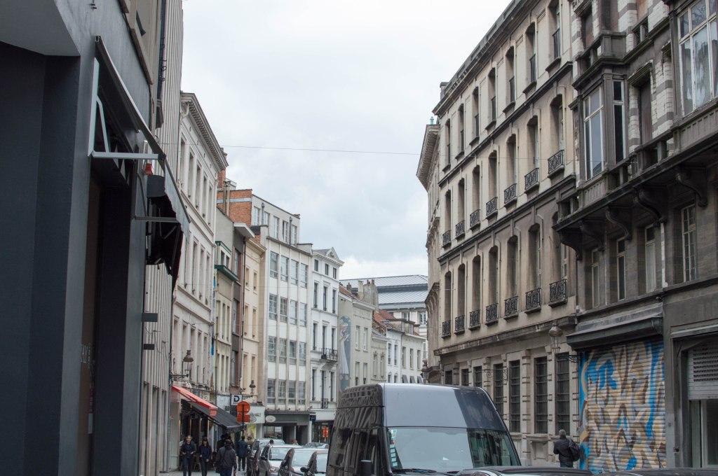 Angel Graffiti Street Art, Brussels, Belgium
