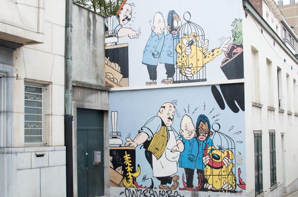 Blondin et Cirage, Graffiti, Street Art, Brussels, Belgium