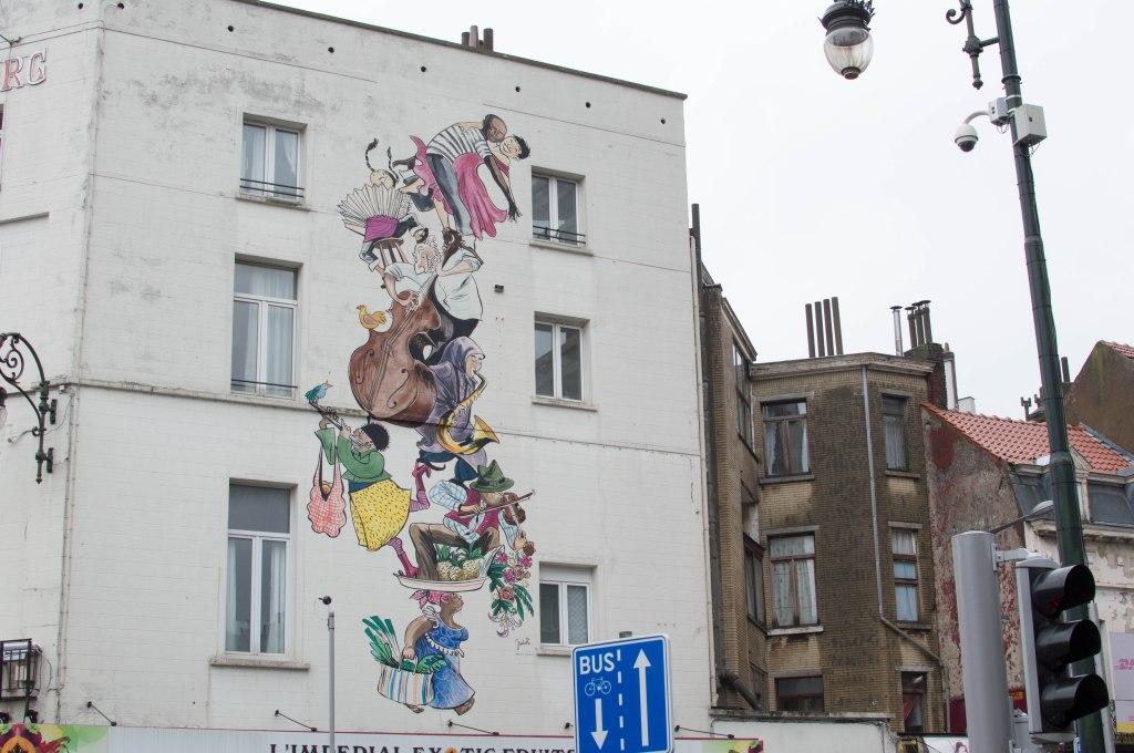 Cartoon People, Graffiti Street Art, Brussels, Belgium