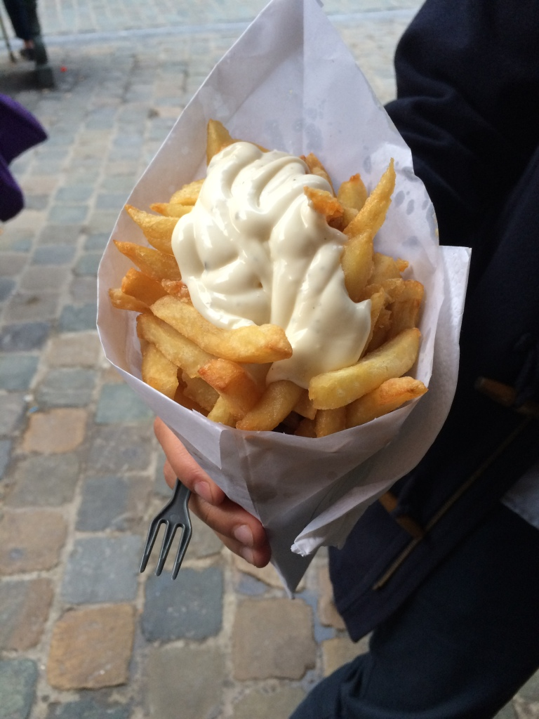Chips With Garlic Mayo From Tabora Friterie, Brussels, Belgium