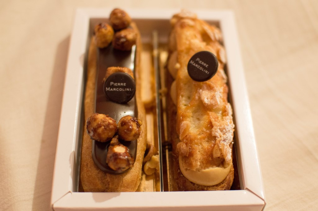 Chocolate Hazelnut and Almond Praline Eclaires From Pierre Marcolini, Brussels, Belgium