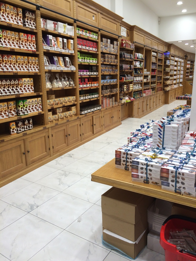 Chocolate Shopping At Gourmet Chocolaterie Belge, Brussels, Belgium