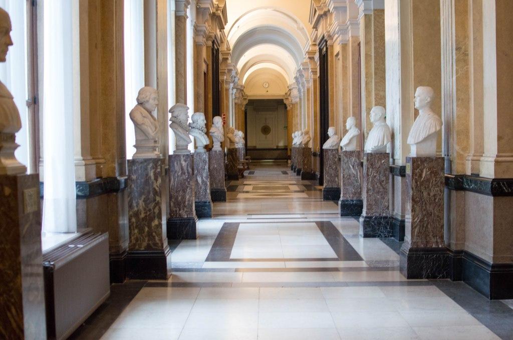Corridor Inside The Justice Palace, Palais de Justice, Brussels, Belgium