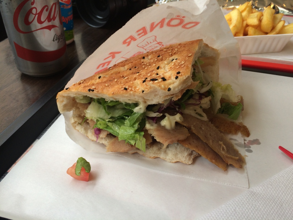 Doner Kebab Sandwich, Centrum of Kebab, Brussels, Belgium