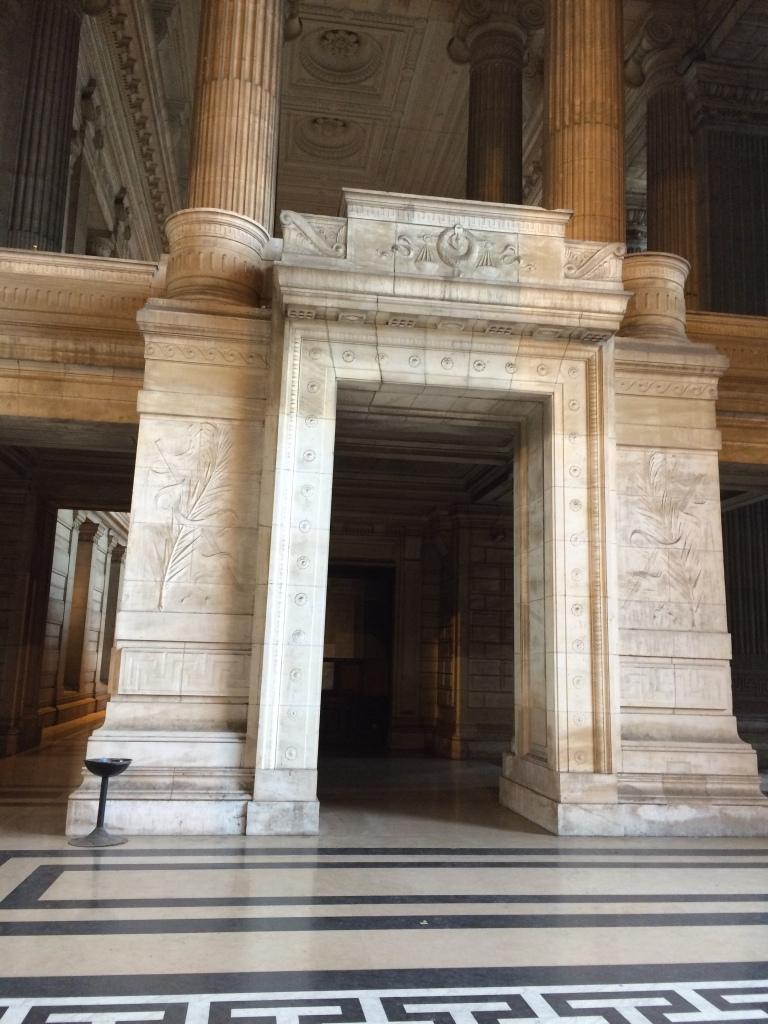Doorway, Justice Palace, Palais de Justice, Brussels, Belgium