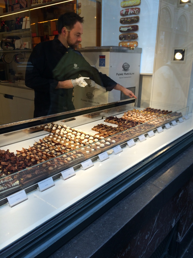 Eclaire Display Window, Pierre Marcolini, Brussels, Belgium
