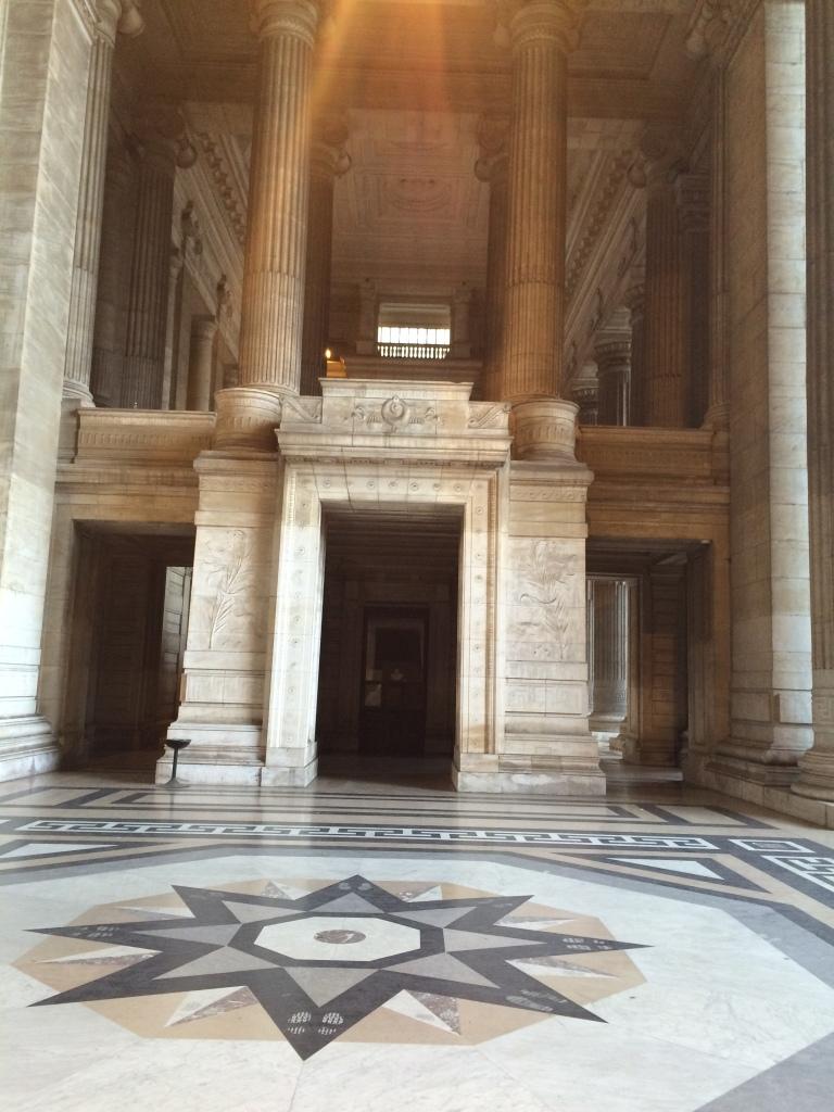 Entrance, Justice Palace, Palais de Justice, Brussels, Belgium