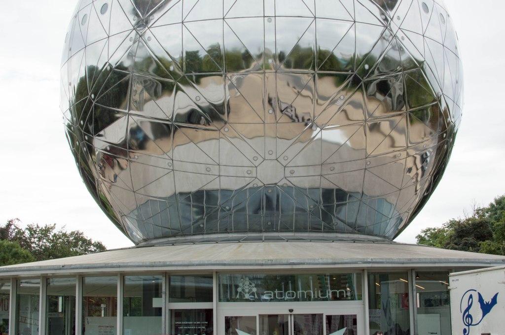 Entrance, The Atomium, Brussels, Belgium