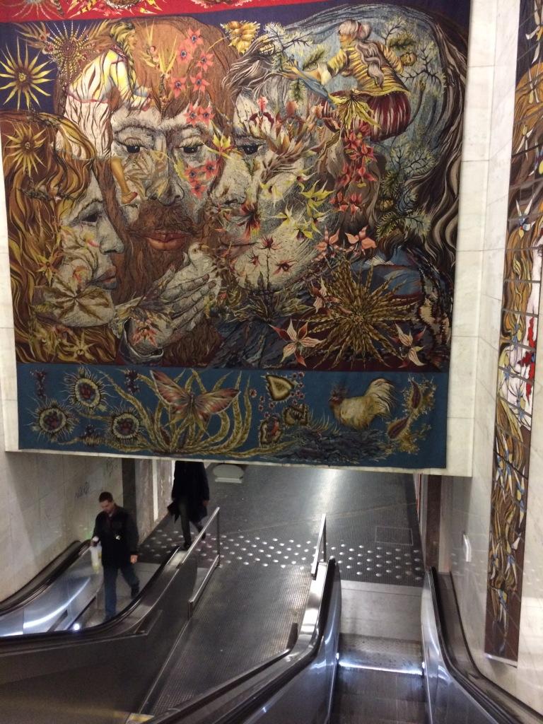 Escalators Down To The Metro, Brussels, Belgium