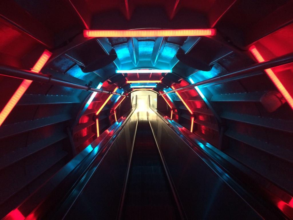 Escalators Existing The Atomium, Brussels, Belgium